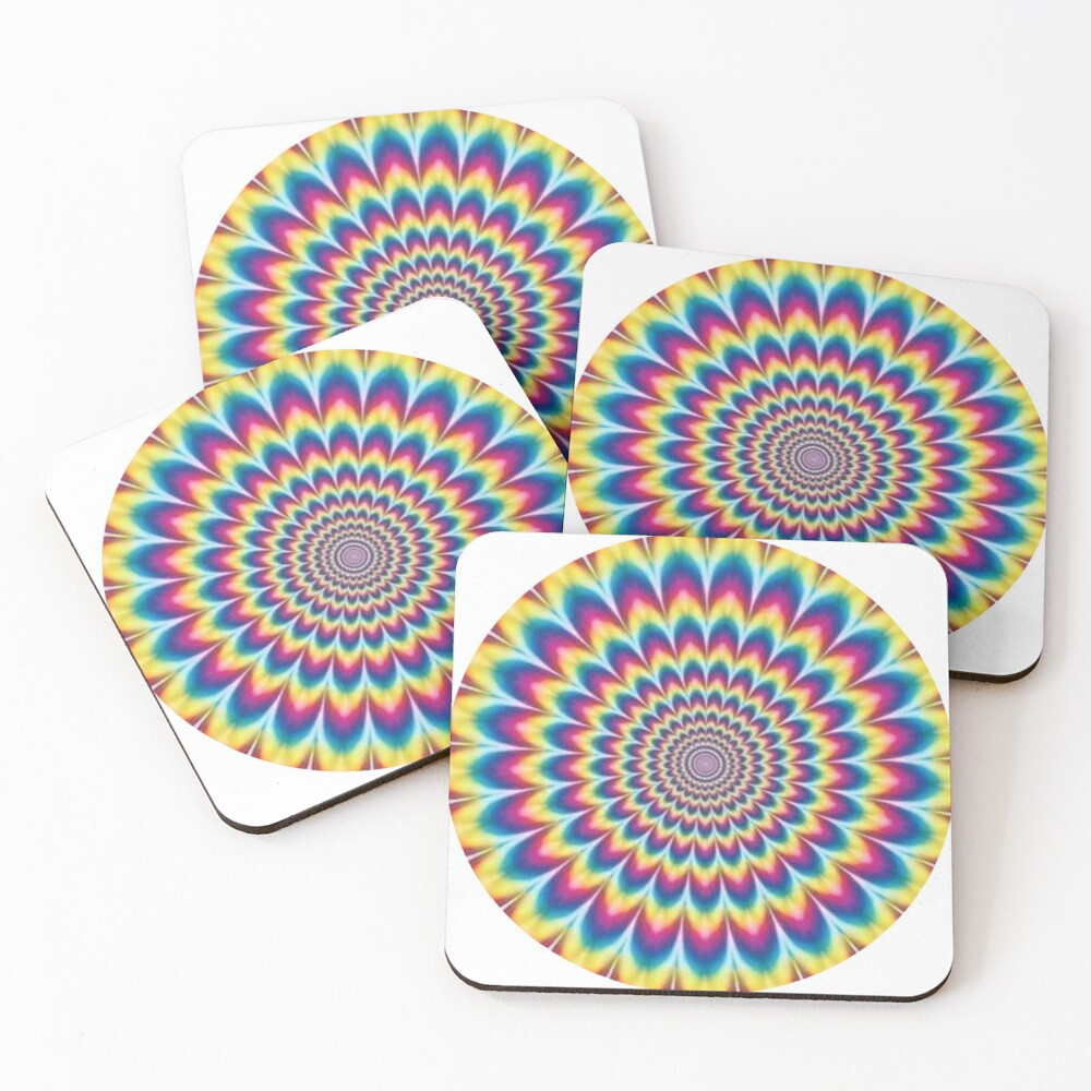 Psychedelic Art, ur,coaster_pack_4_flatlay,square,1000x1000