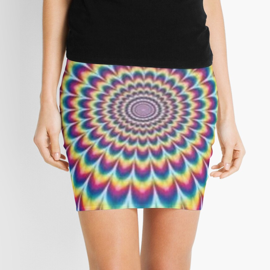 Psychedelic Art, pencil_skirt,x1000,front-c,378,0,871,871-bg,f8f8f8
