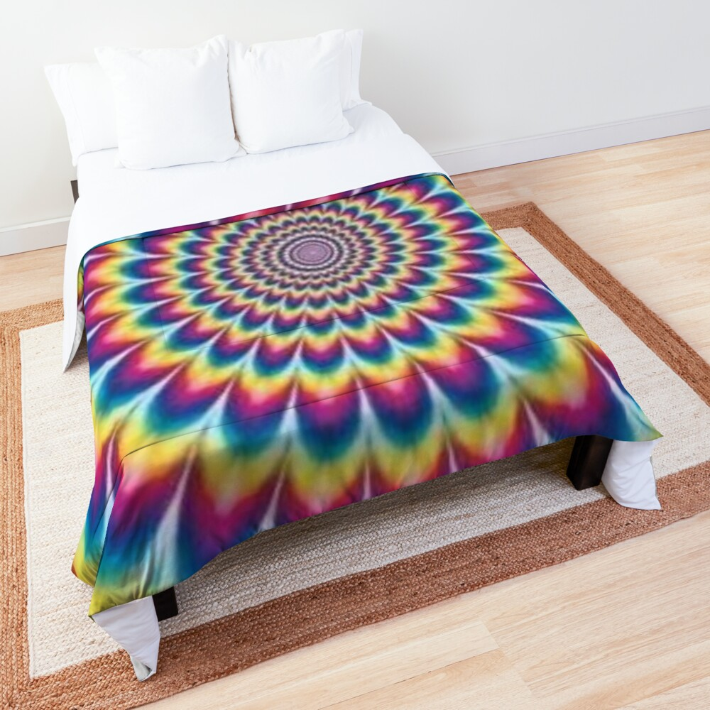 Psychedelic Art, ur,comforter_top_king,square,1000x1000