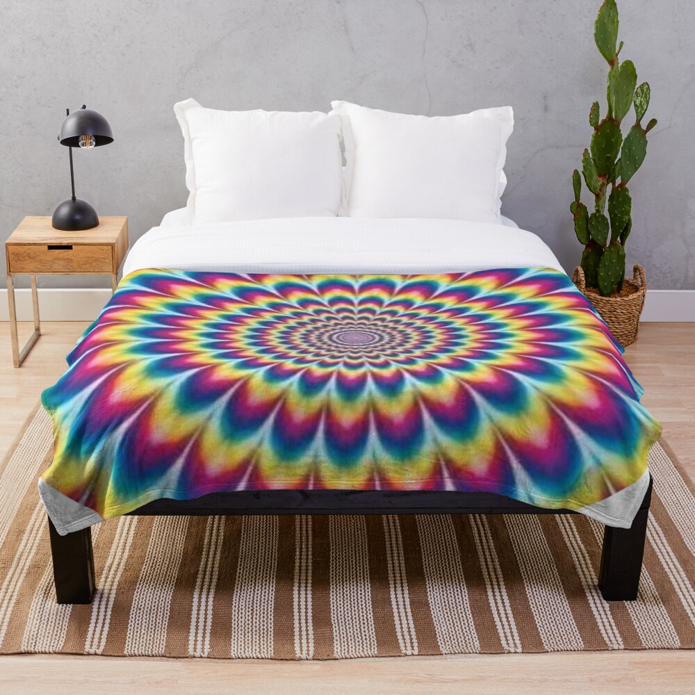 Psychedelic Art, ur,blanket_medium_bed,square,x1000