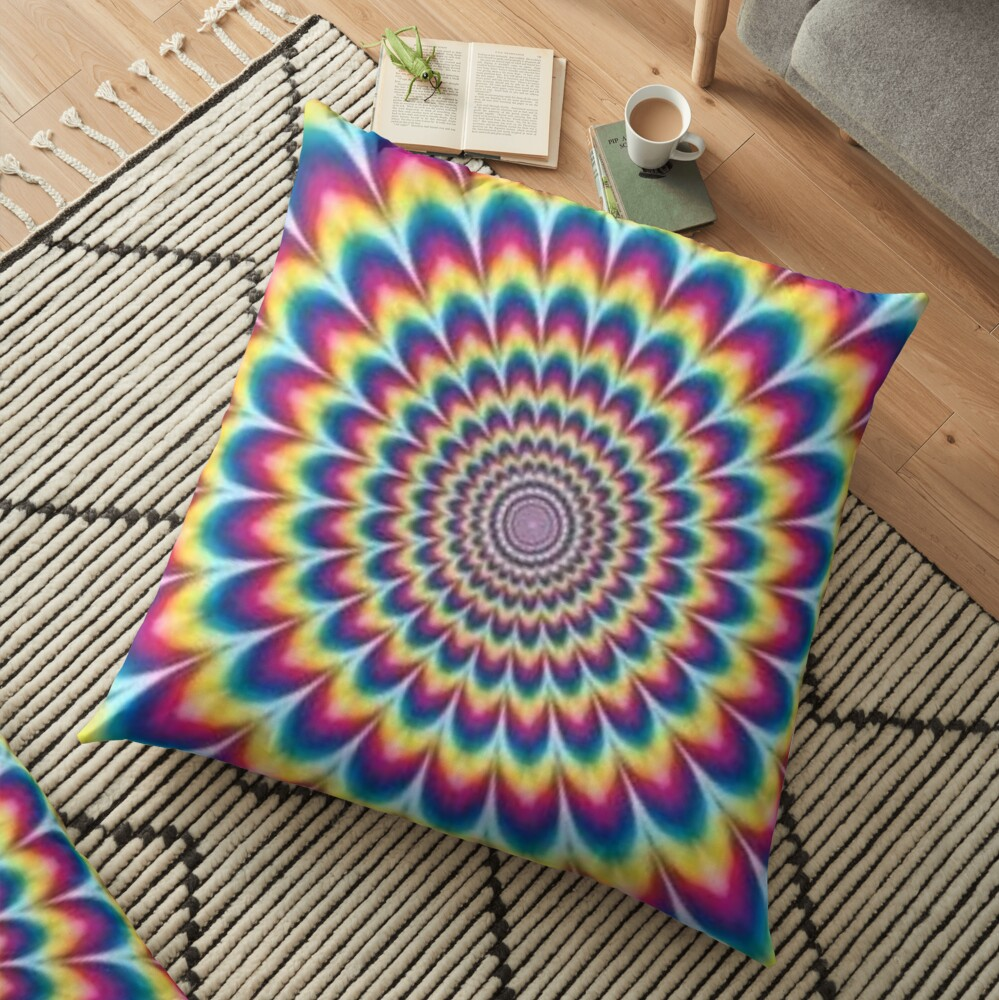 Psychedelic Art, throwpillow,36x36,1000x-bg,f8f8f8-c,0,200,1000,1000