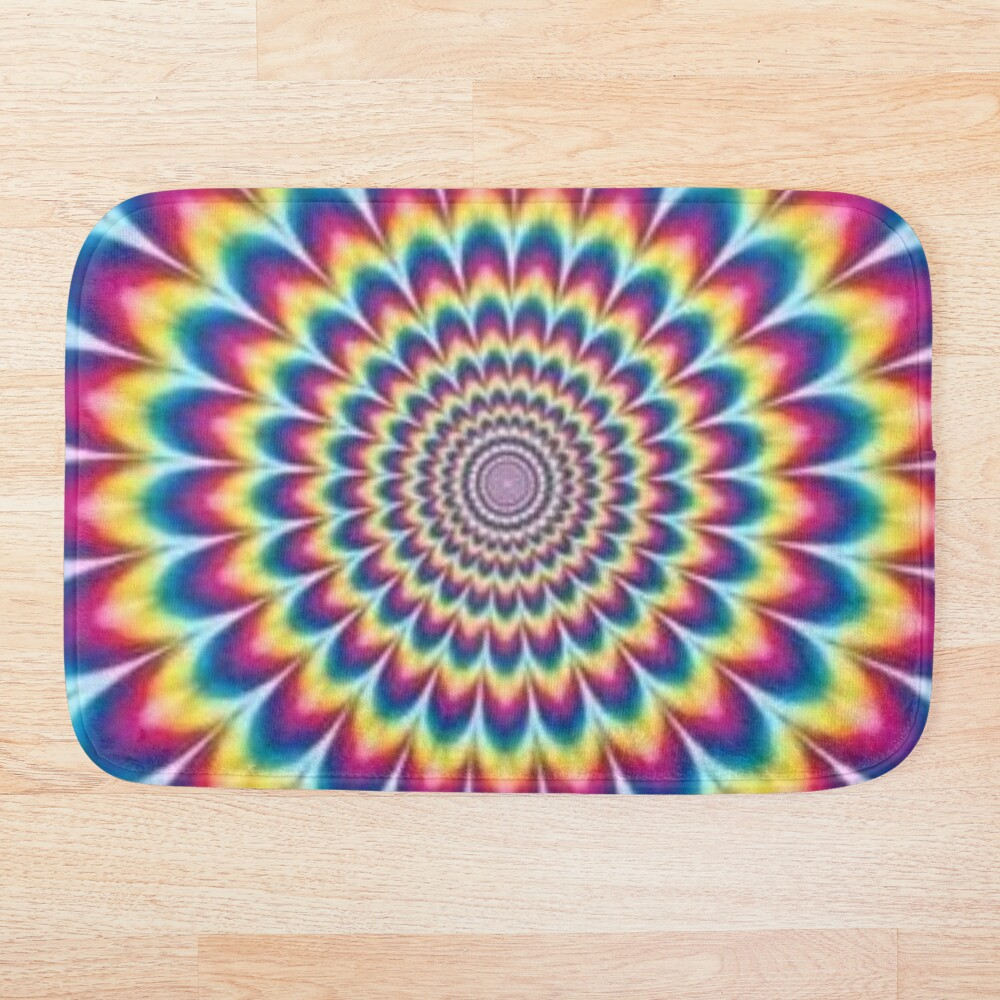 Psychedelic Art, ur,bathmat_flatlay_small,square,1000x1000