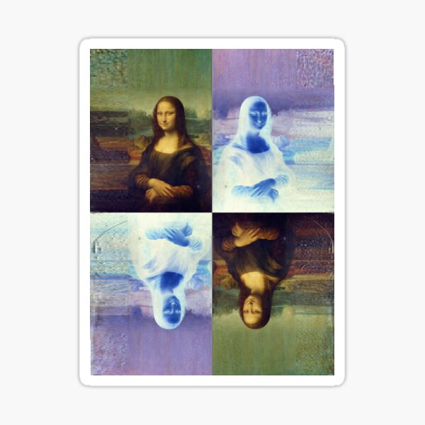 Mona Lisa and the Multiplicity of Worlds Sticker