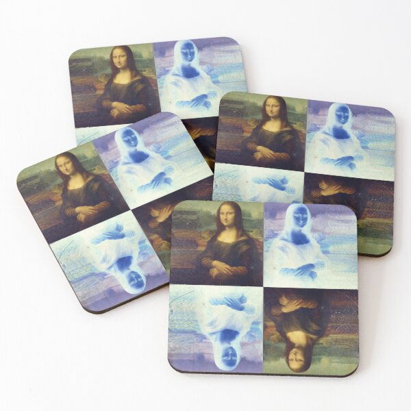 Mona Lisa and the Multiplicity of Worlds Coasters (Set of 4)