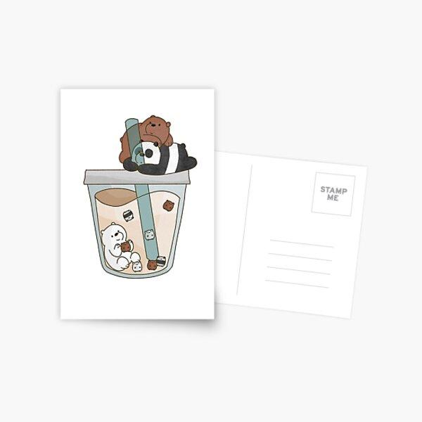 We Bare Bears Boba Postcard