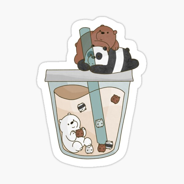 We Bare Bears Boba Sticker