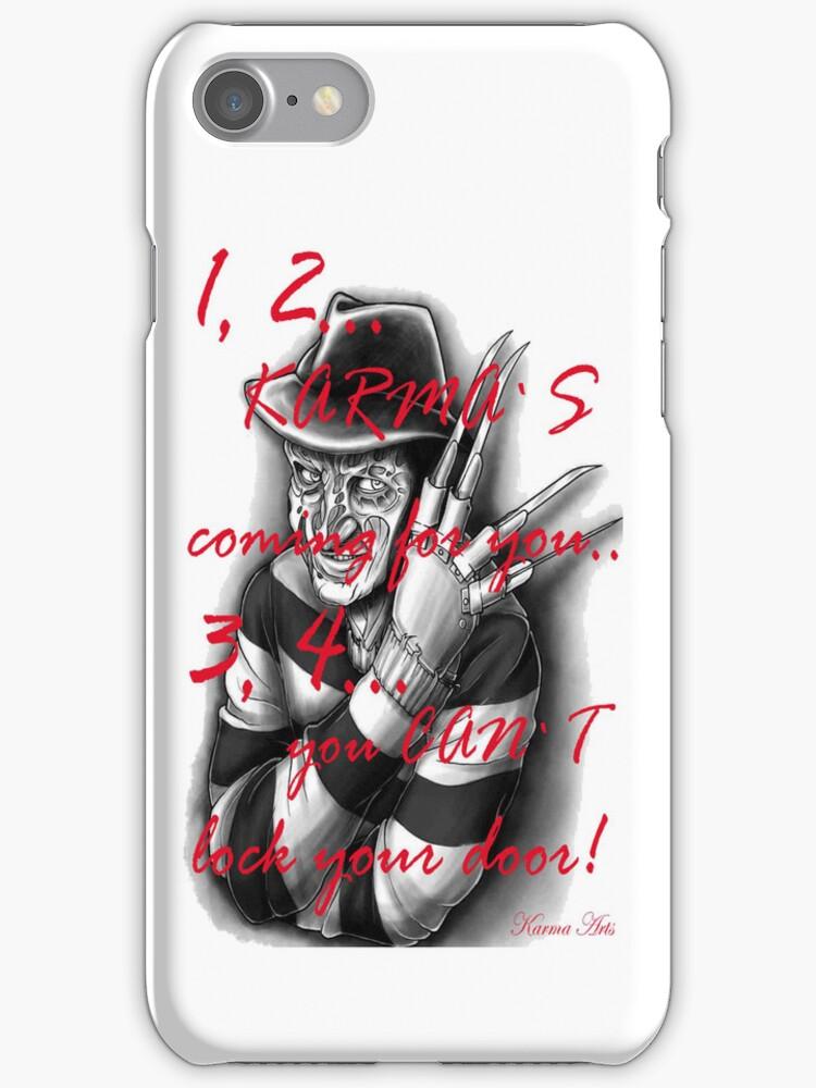 1,2 karmas coming 4 u IPHONE CASE by Dee-Karma-Arts