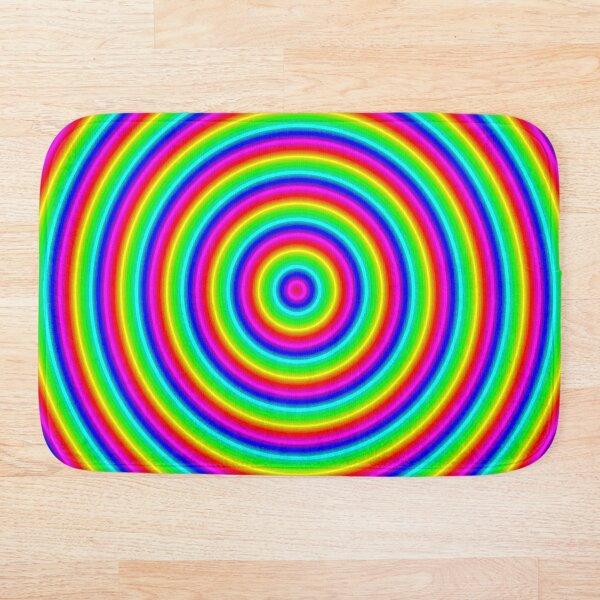 Psychedelic Hypnotic Visual Illusion Bath Mat