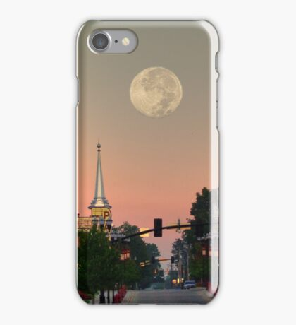 Moon over McMinnville iPhone Case/Skin
