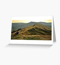 View Over The Peaks Greeting Card