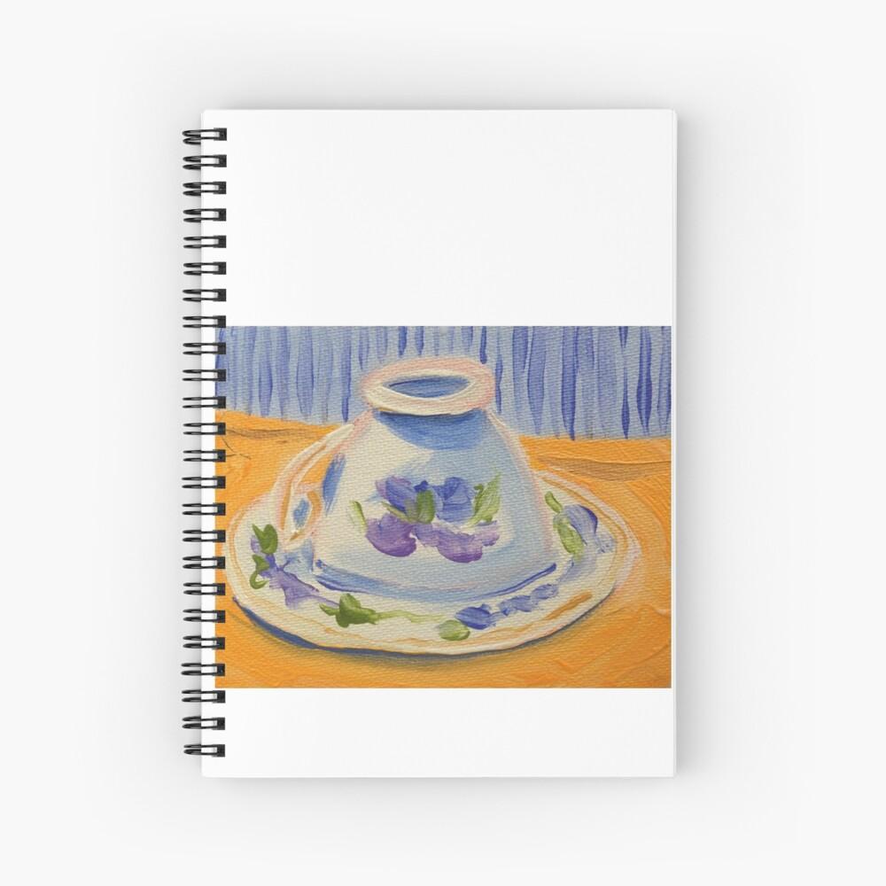 Yellow afternoon tea Spiral Notebook