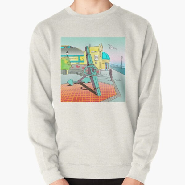 Drawing of the The Deal Timeball Tower Anchor Seafront ,Kent, UK Pullover Sweatshirt