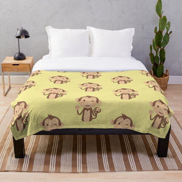 Happy Monkey Throw Blanket