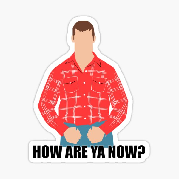 How are ya now?. Letterkenny Sticker