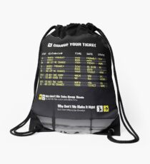 Change Your Ticket Drawstring Bag