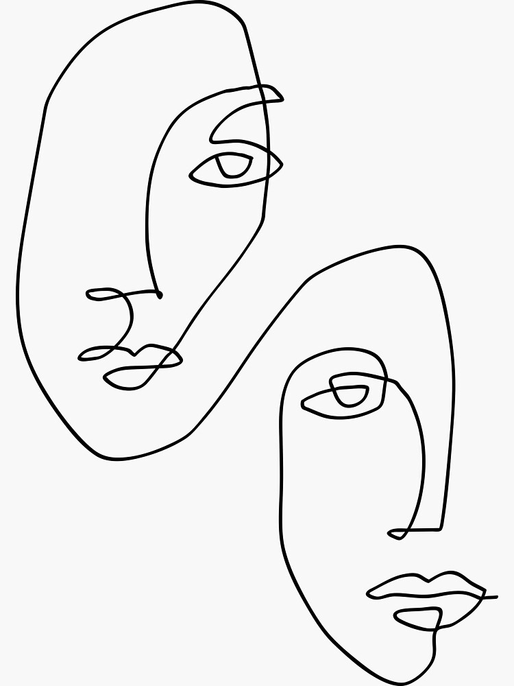 Faces - Line Art by TheRedFinch