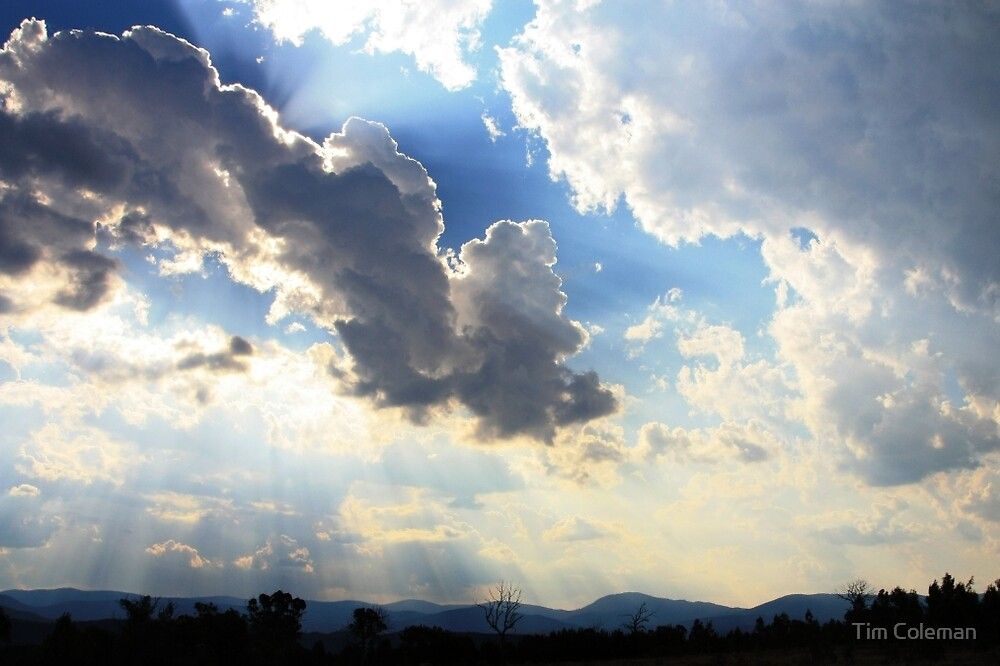 Summer clouds over the Brindabella Range by Tim Coleman