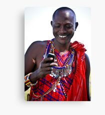 Mobile Maasai  Canvas Print