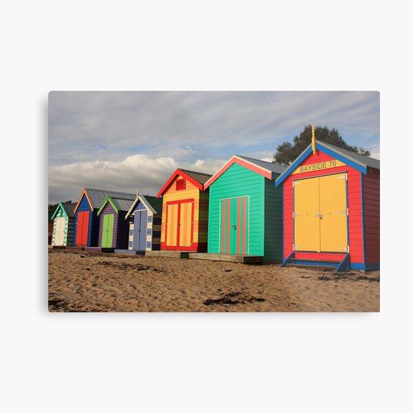 Brighton beach boxes Metal Print