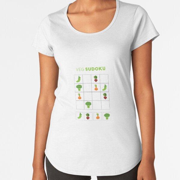 Veggies and Sudoku Premium Scoop T-Shirt