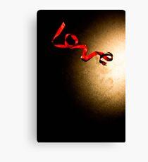 Love Ribbon Canvas Print