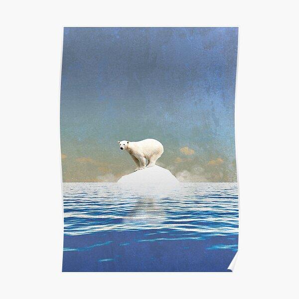 Klimawandel Globale Erwärmung Eisbär Nordpol Eisberg Eis Poster