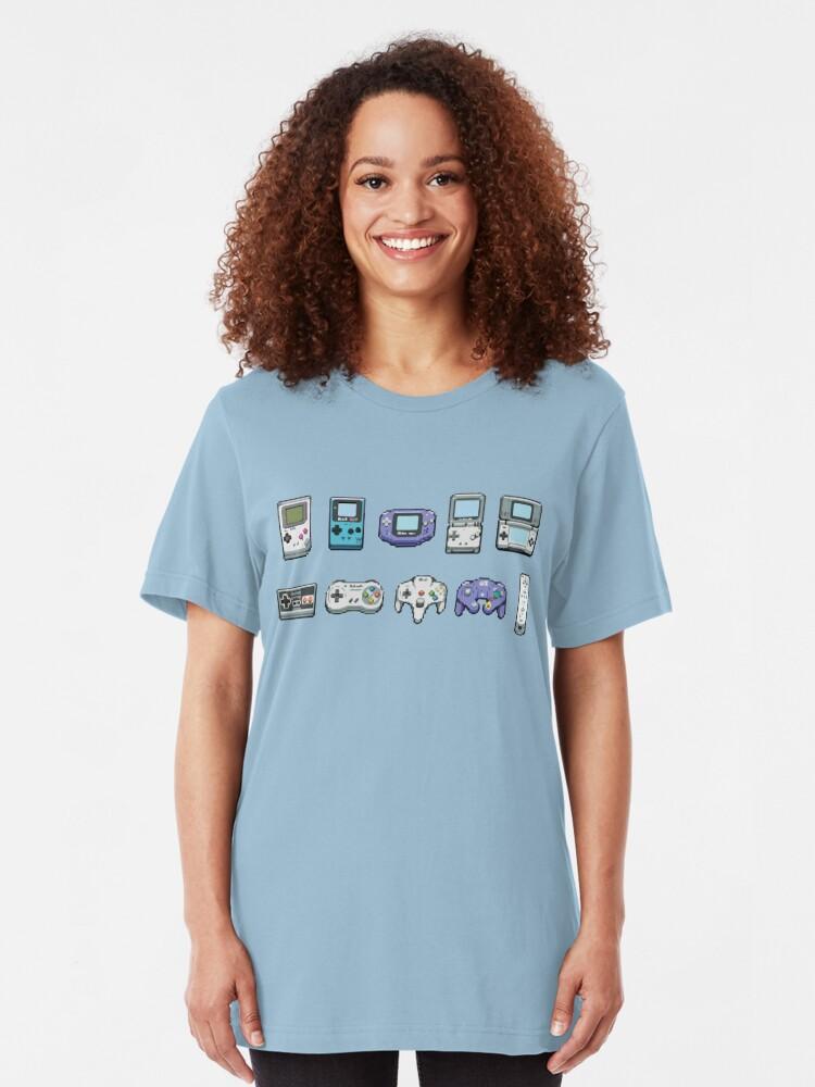 Alternate view of Nintendo consoles Slim Fit T-Shirt