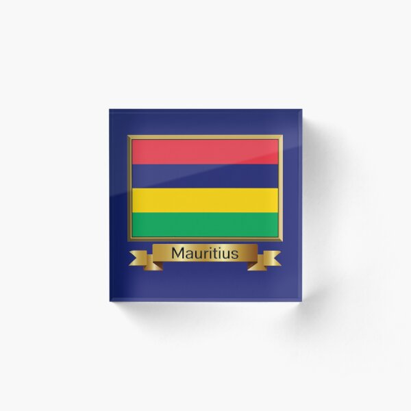 Sticker of Mauritius Map Flag for Bumper Travel Laptop Tablet Suitcase Hollidays
