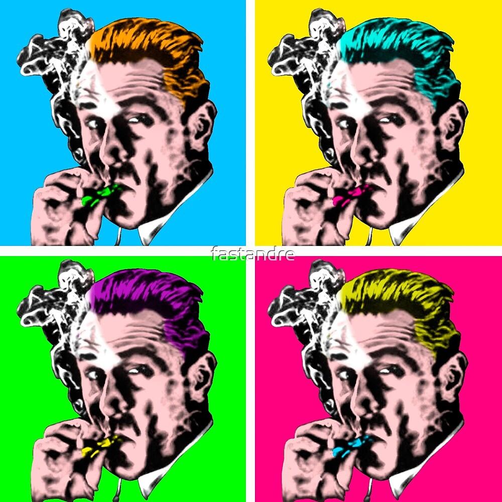 De Niro Goodfellas Warhol Pop Art w Border by fastandre