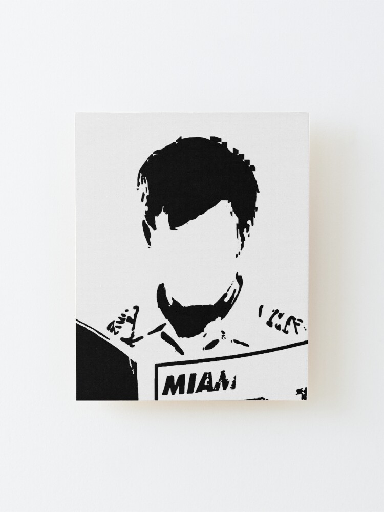 Alternate view of Everyone Hides Black and White Dexter Morgan Mounted Print