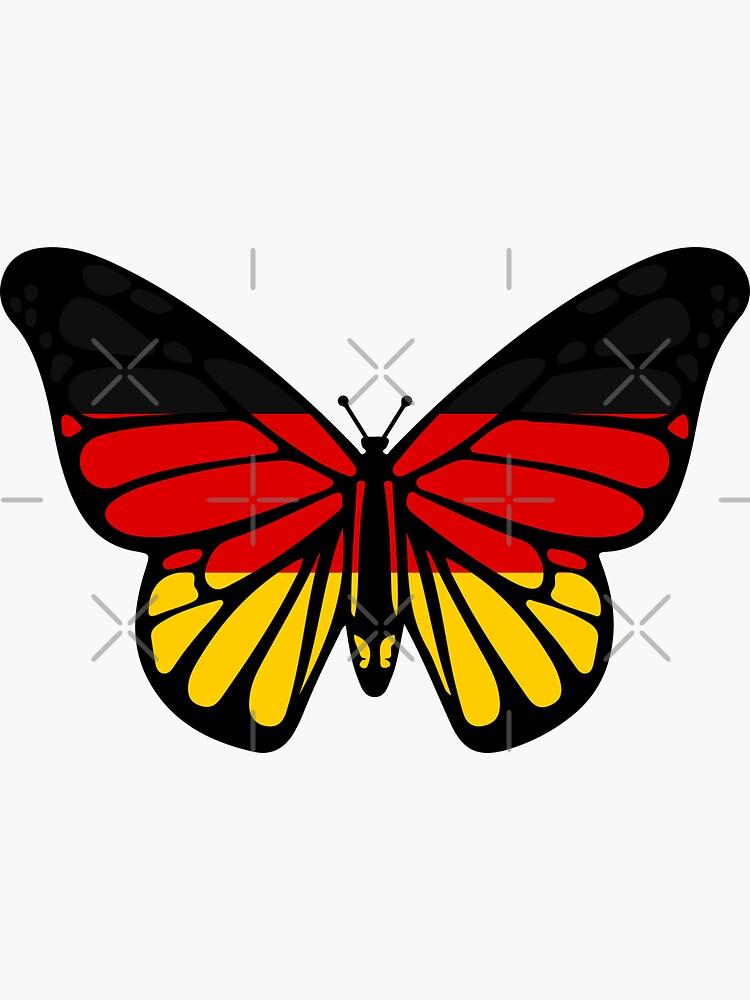 German Flag Butterfly Onesies Romper