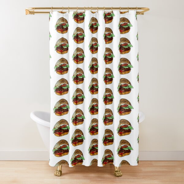 Le hamburger végétalien Rideau de douche