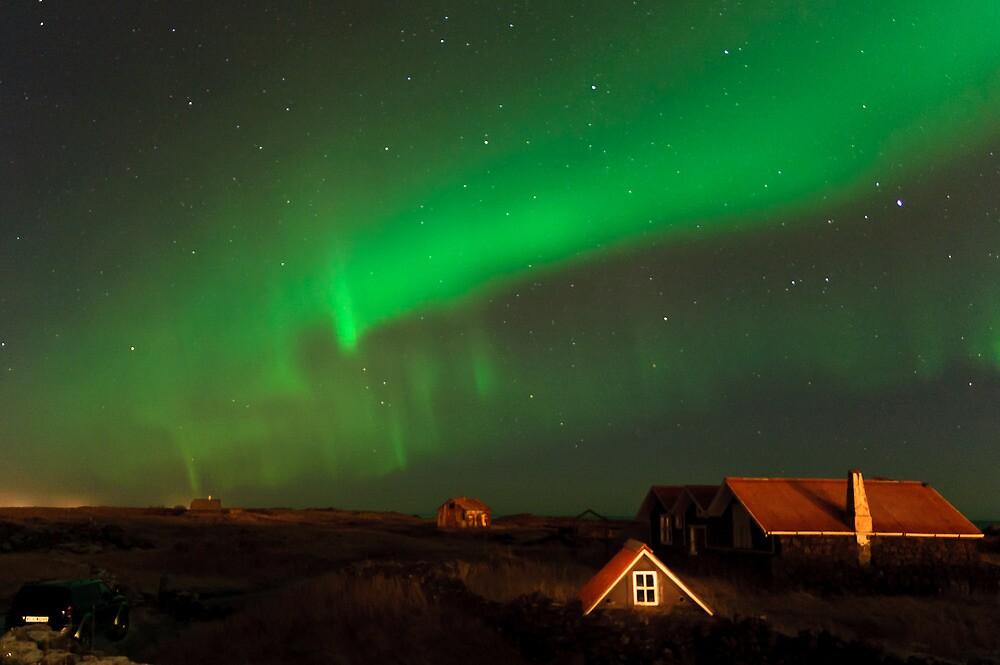 Aurora over Straumsvík by Ólafur Már Sigurðsson