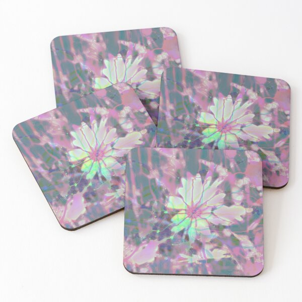 Floral abstraction Coasters (Set of 4)