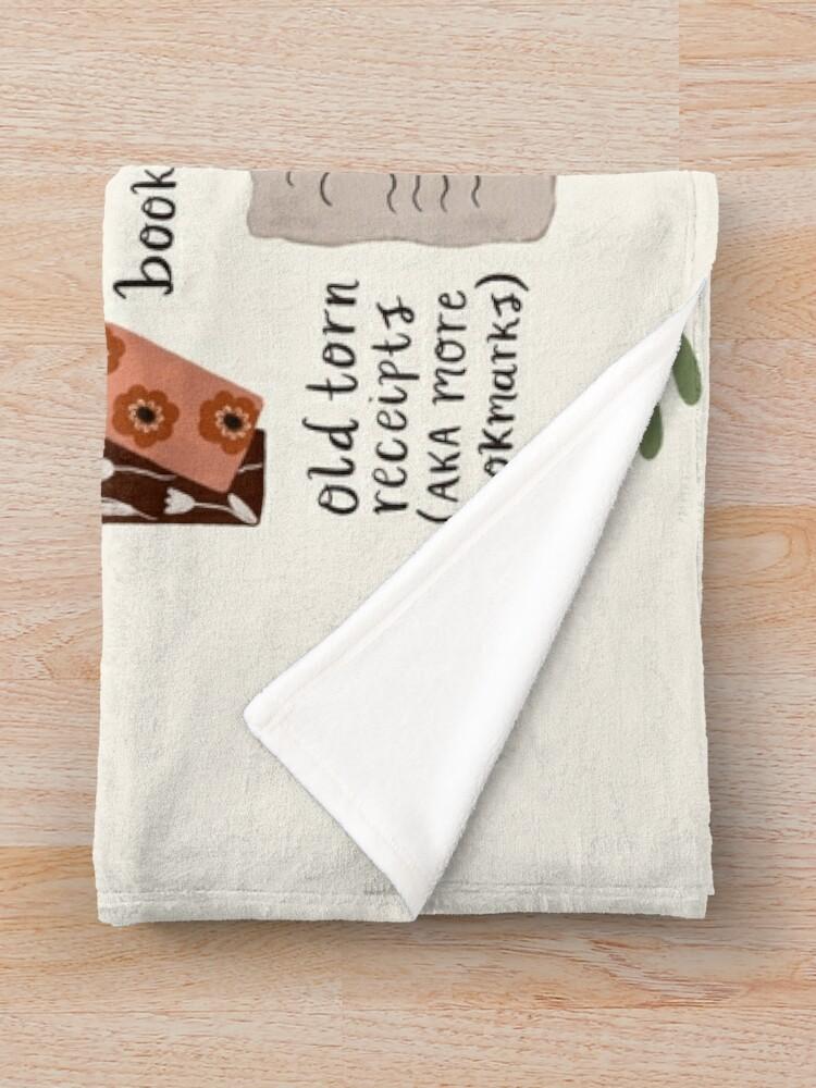 Alternate view of A Bookworm's Belongings Throw Blanket