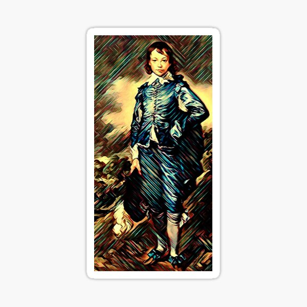 The Blue Boy (c. 1770) is a full-length portrait in oil by Thomas Gainsborough Sticker
