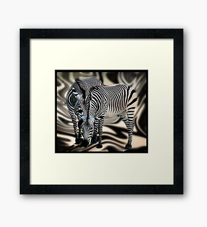 What are they saying to each other? Framed Print