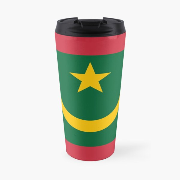 Mauritania Flag Stickers, Gifts and other Products Travel Mug