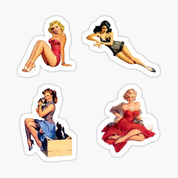 Pin up Girl Sticker Pack Sticker