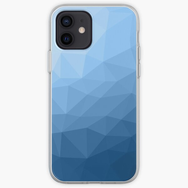 Classic Blue geometric mesh ombre pattern iPhone Soft Case