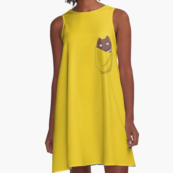 Cookie Cat in Pocket  A-Line Dress