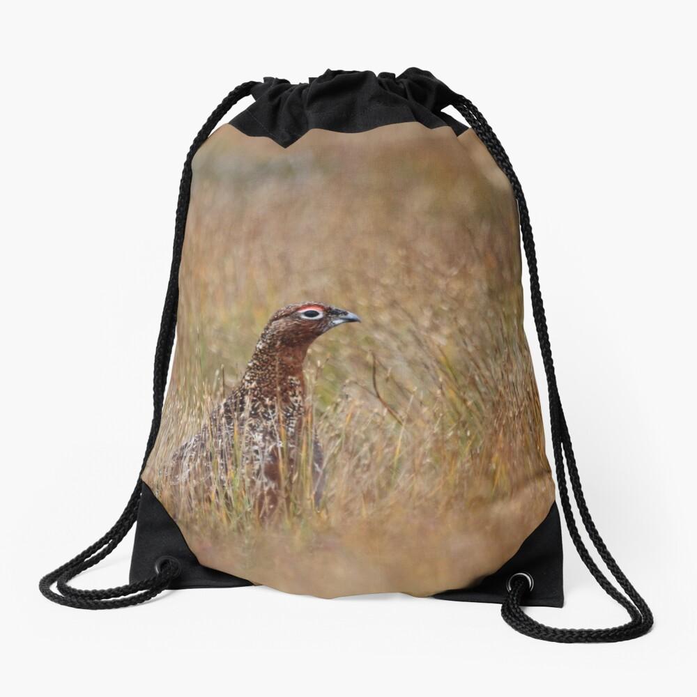 Red grouse Drawstring Bag