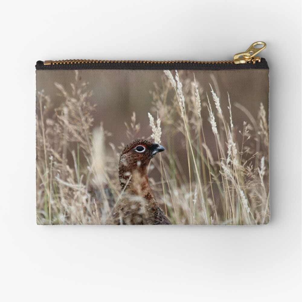 Grouse pose Zipper Pouch