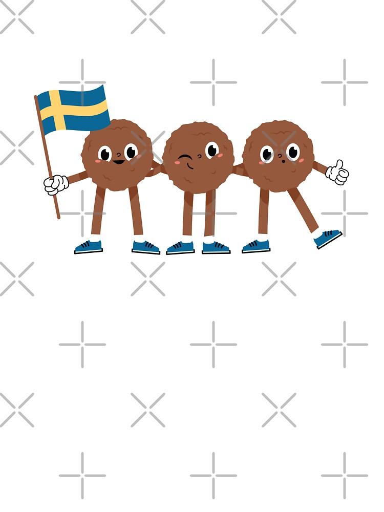 Cute Kottbullar Swedish Meatballs Sweden Flag Baby One Piece By Dersenat Redbubble