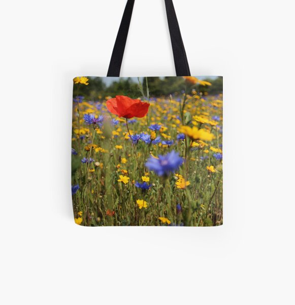 Wildflower meadow All Over Print Tote Bag