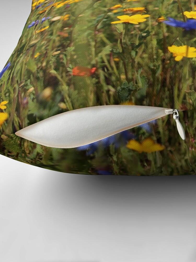 Alternate view of Wildflower meadow Throw Pillow