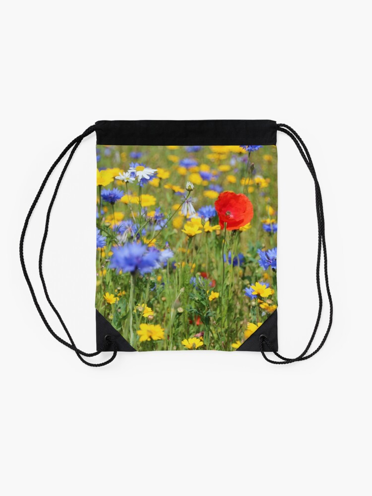 Alternate view of Wildflowers Drawstring Bag