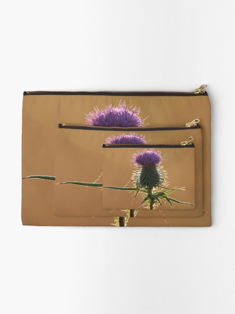 Alternate view of Thistle Zipper Pouch