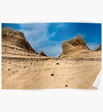 Landscape, Sand dunes, Wind sculped, Traigh Mhor beach Poster