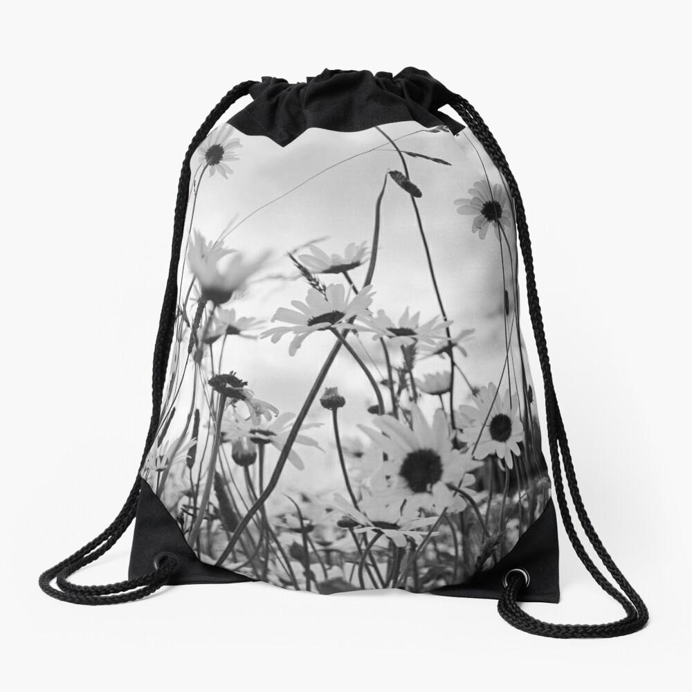 Oxeye daisies Drawstring Bag